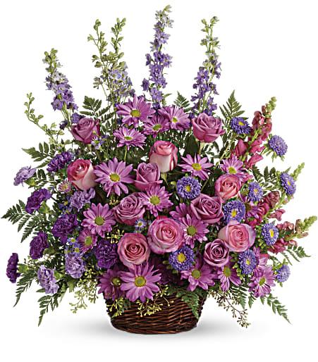 T235 1B - Gracious Lavender Basket